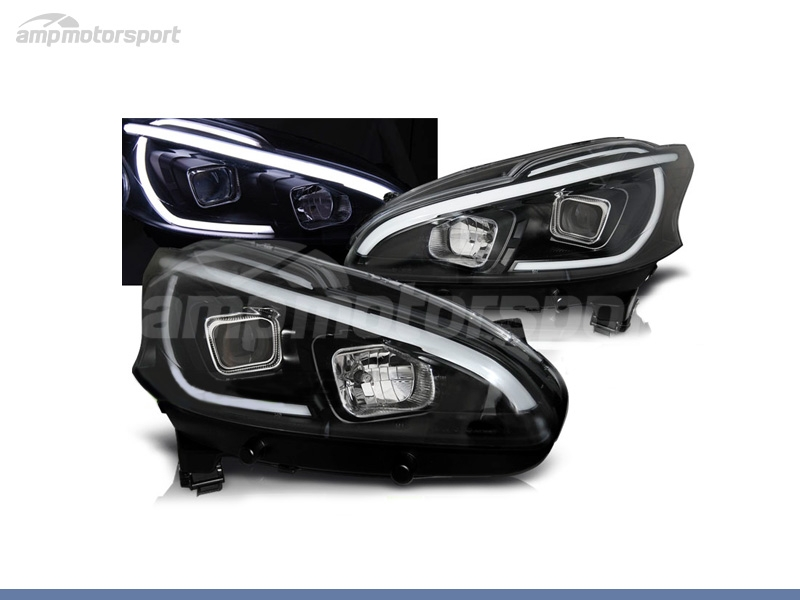FAROS DELANTEROS LUZ DIURNA LED + TUBE LIGHT PARA PEUGEOT 208