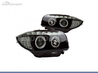 FAROS DELANTEROS LUZ DIURNA / OJOS DE ANGEL PARA BMW SERIE 1 E81 / E87 / E82 / E88