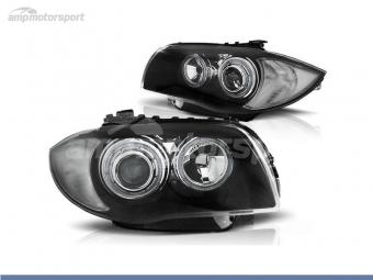 FAROIS DIANTEIROS ANGEL EYE LED PARA BMW SERIE 1 E81 / E87 / E82 / E88