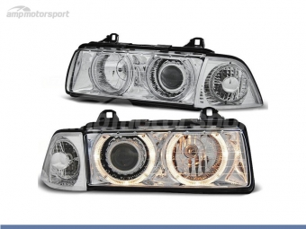 FAROIS DIANTEIROS ANGEL EYE PARA BMW SERIE 3 E36 / BERLINA / TOURING / COMPACT