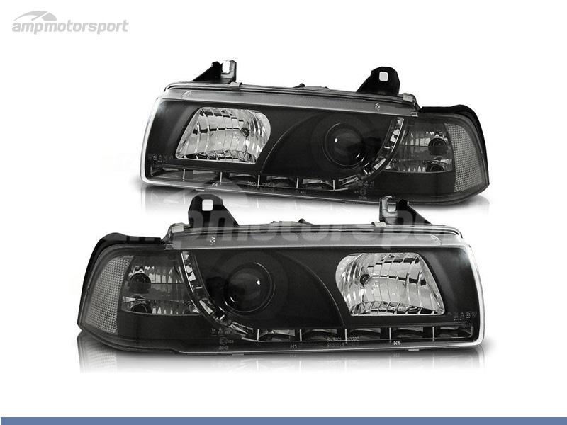 FAROS DELANTEROS LUZ DIURNA LED PARA BMW SERIE 3 E36 / COUPE / CABRIO