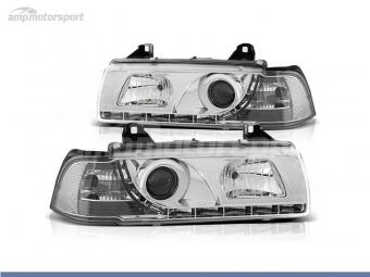 FAROIS DIANTEIROS LUZ DIURNA LED PARA BMW SERIE 3 E36 / COUPE / CABRIO