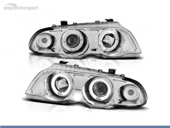 FAROIS DIANTEIROS ANGEL EYE PARA BMW SERIE 3 E46 / BERLINA / TOURING