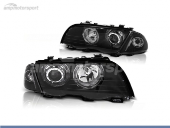 FAROS DELANTEROS OJOS DE ANGEL LED PARA BMW SERIE 3 E46 / BERLINA / TOURING