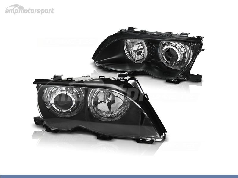 FAROS DELANTEROS OJOS DE ANGEL LED PARA BMW SERIE 3 E46 / BERLINA / TOURING