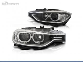 FAROS DELANTEROS XENON OJOS DE ANGEL LED PARA BMW SERIE 3 F30 / F31 / BERLINA / TOURING