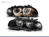 FAROIS DIANTEIROS ANGEL EYE PARA BMW SERIE 3 E46 / COUPE / CABRIO