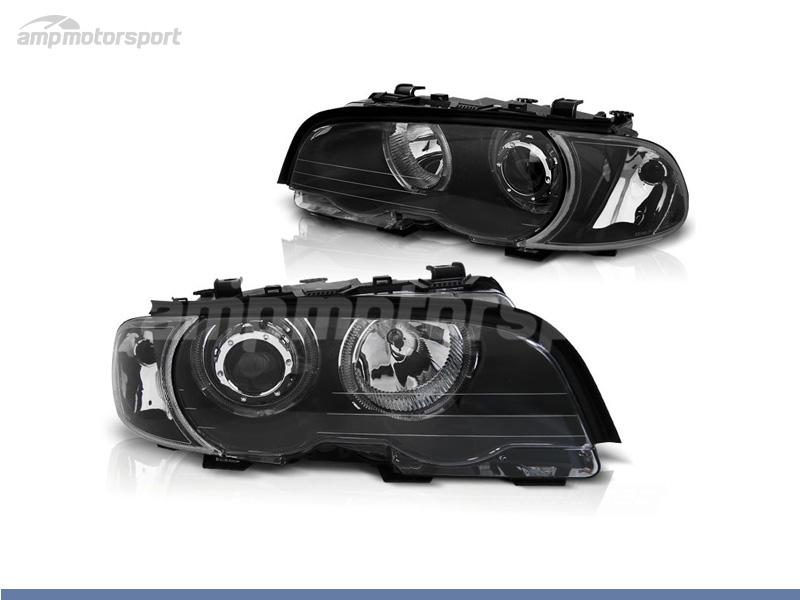 FAROIS DIANTEIROS ANGEL EYE LED PARA BMW SERIE 3 E46 / COUPE / CABRIO