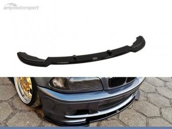 SPOILER LIP DIANTEIRO BMW 3 E46 COUPE/CABRIO PRETO FOSCO
