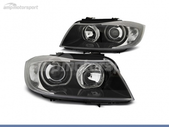 FAROS DELANTEROS OJOS DE ANGEL LED PARA BMW SERIE 3 E90 / E91 / BERLINA / TOURING