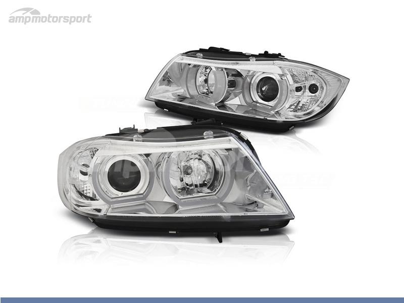 FAROS DELANTEROS OJOS DE ANGEL LED 3D PARA BMW SERIE 3 E90 / E91 / BERLINA / TOURING