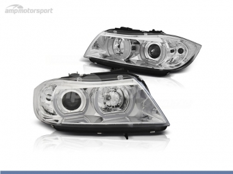 FAROIS DIANTEIROS ANGEL EYE LED 3D PARA BMW SERIE 3 E90 / E91 / BERLINA / TOURING
