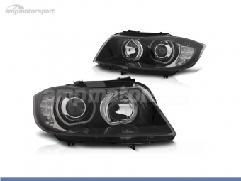 FAROIS DIANTEIROS ANGEL EYE LED PARA BMW SERIE 3 E90 / E91 / BERLINA / TOURING