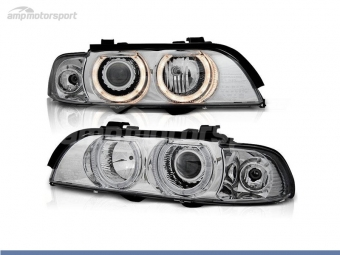 FAROIS DIANTEIROS ANGEL EYE XENON PARA BMW SERIE 5 E39 / BERLINA / TOURING