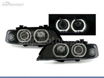 FAROS DELANTEROS OJOS DE ANGEL LED PARA BMW SERIE 5 E39 / BERLINA / TOURING