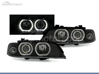 FAROS DELANTEROS OJOS DE ANGEL LED XENON PARA BMW SERIE 5 E39 / BERLINA / TOURING