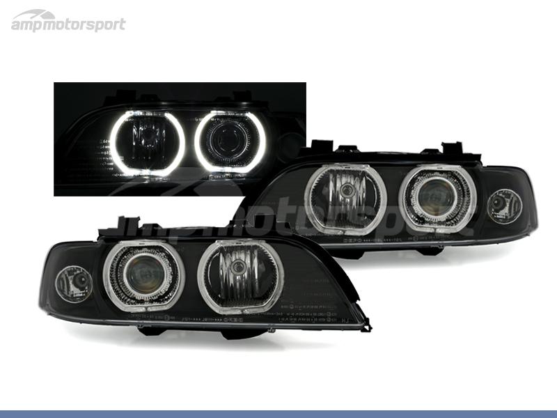 FAROS DELANTEROS OJOS DE ANGEL LED PARA BMW SERIE 5 E39 / BERLINA / TOURING