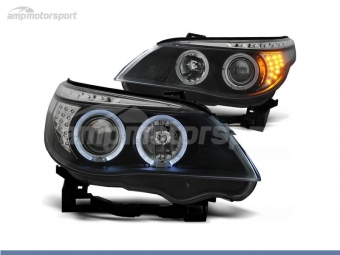 FAROIS DIANTEIROS ANGEL EYE PARA BMW SERIE 5 E60 / E61 / BERLINA / TOURING
