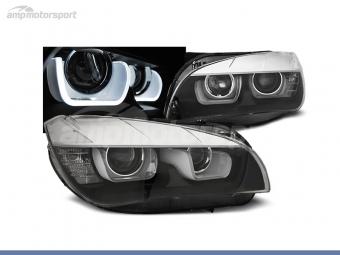 FAROIS DIANTEIROS ANGEL EYE LED U PARA BMW X1 E84
