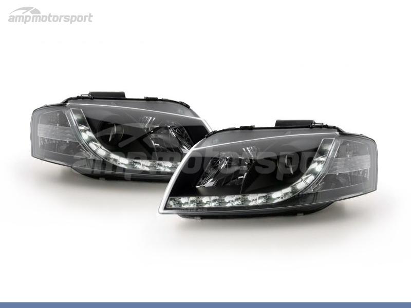 FAROS DELANTEROS LUZ DIURNA LED REAL DRL PARA AUDI A3 8P / 8PA