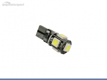 Bombilla LED T10 3w 5 LEDs can bus
