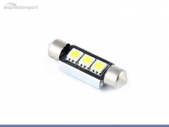 Bombilla LED festoon can bus 36mm 3 LEDs