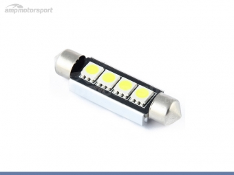 Bombilla LED festoon can bus 42mm 4 LEDs