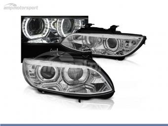FAROS DELANTEROS OJOS DE ANGEL 3D U PARA BMW SERIE 3 E92 / E93 2006-2010