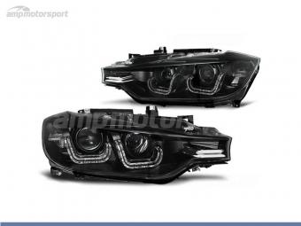 FAROIS DIANTEIROS ANGEL EYE XENON 3D U PARA BMW SERIE 3 F30 / F31 2011-2015
