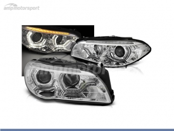 FAROS DELANTEROS OJOS DE ANGEL 3D U PARA BMW SERIE 5 F10 / F11 2010-2013