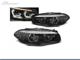 FAROIS DIANTEIROS ANGEL EYE XENON 3D U PARA BMW SERIE 5 F10 / F11 2010-2013
