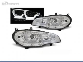 FAROS DELANTEROS OJOS DE ANGEL 3D U PARA BMW X5 E70 2007-2013