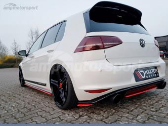 SPLITTERS TRASEROS PARA VW GOLF MK7 GTI CLUBSPORT ROJOS