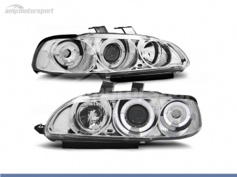 FAROS DELANTEROS OJOS DE ANGEL PARA HONDA CIVIC COUPE/HATCHBACK