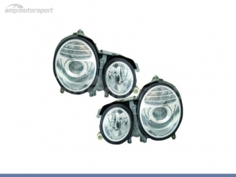 FAROIS DIANTEIROS LOOK W211 DESIGN PARA MERCEDES CLASE E W210