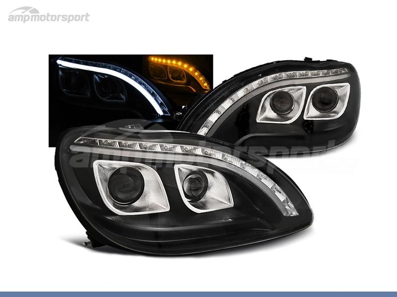 FAROS DELANTEROS LUZ DIURNA LED + TUBE LIGHT PARA MERCEDES CLASE S W220
