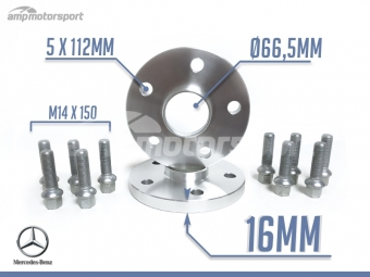 ESPAÇADORES DE 16MM PARA MERCEDES ML