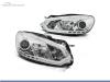 FAROIS DIANTEIROS LUZ DIURNA LED REAL + TUBE LIGHT PARA VOLKSWAGEN GOLF MK6