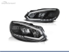 FAROIS DIANTEIROS LUZ DIURNA LED REAL + TUBE LIGHT PARA VOLKSWAGEN GOLF MK6