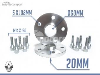 SEPARADORES DE 20MM PARA RENAULT CLIO RS&V6